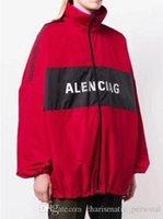 fermuar hırka ilkbahar ceketi toptan satış-Moda Marka tasarım Ilkbahar ve sonbahar ince ceket Erkek kadın Mektup Baskı Uzun Kollu Fermuar Hırka Ceket Kazak Dış Giyim Coat