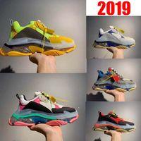 Wholesale old navy shoes resale online - 2019 New hot Luxury Paris Men Women Vintage Old Grandpa Trainer Casual Shoes Triple S Designer Dad Crystal Bottom Top Quality FW