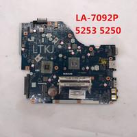 материнская плата la оптовых-Высокое качество для 5253 5250 ноутбуков материнской платы P5WE6 LA-7092P DDR3 100% полный тестирование