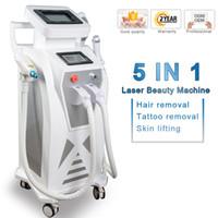 máquina facial facial al por mayor-2019 multifunción ipl depilación láser nd yag láser máquina de eliminación de tatuajes rf lavado de cara del elight opt SHR IPL