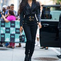 yeni stil kadın pantolon toptan satış-Bayan Pantolon 2019 Bahar ve Yaz Yeni Moda Sıkı Pantolon Sokak Tarzı Metalik Yüksek Bel Pantolon