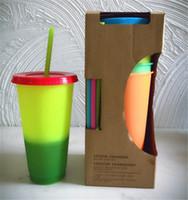 sıcak bardak rengi toptan satış-Toptan Fiyat 700 ml Kahve Fincanı Kupa Ace Sıcak Değişen Renk Isı Reaktif Çay Süt Fincan Sihirli Kupalar DHL kargo