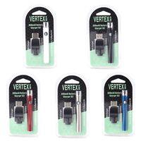 Wholesale usb chargers for e cigarettes for sale - Group buy Hotsale Vertex Vape Battery USB Charger Kit mAh Thread Preheat Battery E Cigarettes Vape Pen VV Batteries For CE3 G2 Vape Cartridges