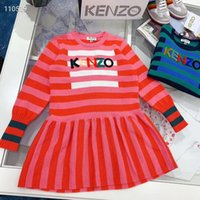 Wholesale crochet dress clothing for sale - Group buy Pre order Girl Knitted sweater dresses Kids Fashion Crochet dress Winter long sleeve letter dress children retail clothes