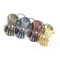 rächer schlüsselbunde großhandel-Avengers Infinity War Keychain Thanos 6 Farben Unendlichkeit Steine Gauntlet Anhänger Schlüsselanhänger Auto Schlüsselanhänger für Männer Frauen Schmuck