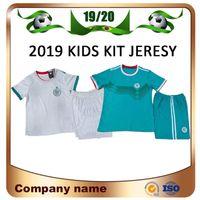 7eba8d2760d Wholesale soccer team uniforms kits for sale - 2019 Algeria Kids kit home white  Soccer Jersey