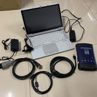 Wholesale mdi cable resale online - G M MDI with wireless wifi and soft ware auto diagnostic tool Multiple Interface OBD2 Scanner with Used Laptop CF AX2 I5 G and GB SSD