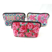Wholesale chinese new gifts online - New Latest Chinese Style Monogram Make Up Bag Cosmetic Pouch Lilly Pulitzer Pencil Case For Students