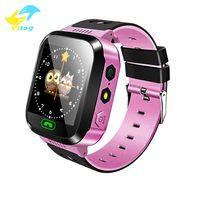 reloj de pulsera gsm al por mayor-Reloj inteligente Q528 para Kid reloj de los niños SOS GSM Localizador Rastreador de seguridad Anti-Perdida SmartWatch Child Guard para iOS Android regalo de los niños