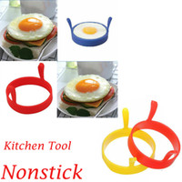 Wholesale silicone poached egg kitchen for sale - Group buy US Silicone Round Omelette Fry Egg Ring Pancake Poach Mold Kitchen Cooking Tool