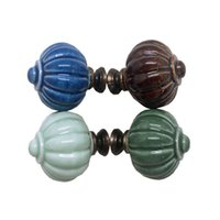 Wholesale cabinet handle single hole for sale - Group buy Pumpkin Handles Pulls Drawer Knob Handles Kitchen Cabinet Single Hole Wardrobe Cupboard Colors Mix mz F1
