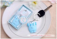 Wholesale baby shower giveaways gifts resale online - Baby shower party favor gifts for guests Baby Boy girl Keychain birthday party gift and giveaways presents
