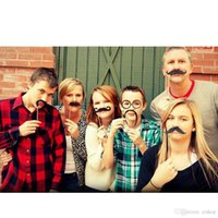 Wholesale funny mustache lips for sale - Group buy Lot58pcs Set Funny DIY Photo Booth Props Glasses Mustache Lip On A Stick Wedding Birthday Party Fun Decoration Halloween Gift
