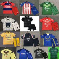 uniformes de futbol mexico al por mayor-DHL 2019-2020 LIGA MX Club America Cruz Azul camiseta de fútbol para niños 19 20 NAUL Tigrs UNAM Chivas Cougar México uniformes de camisetas de fútbol para niños