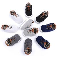 Wholesale Baby First Walkers Canvas Sneaker Anti slip Baby Boys Shoes Fashion Toddler Infants Shoes Baby