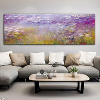 pinturas a óleo de água venda por atacado-Water Lilies Monet Pinturas Óleo reproduções impressão em tela Art Prints Famoso Obra por Monet Recados Pictures Para Bed Room
