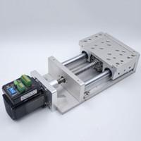tischrutschen großhandel-CNC-Schiebetisch Effektiver Federweg L100mm Kugelumlaufspindel1605 SBR Säulenführung Kreuzschlitten C7 Elektrisch Integrierter Closed-Loop-Schrittmotor