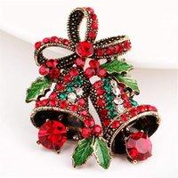 broches de calidad vintage al por mayor-envío libre Campana de Navidad Traje de Navidad de la broche de regalo creativo de arco de alta calidad ramillete broche de cosecha de DHL