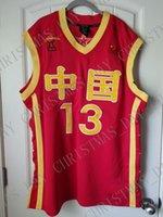 mulheres jersey china venda por atacado-Barato personalizado Yao Ming Camisa De Basquete China Chinês Costurado Personalizar qualquer nome número HOMENS MULHERES JUVENTUDE JERSEY XS-5XL