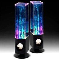 su dansı çeşmesi hoparlörü toptan satış-Yeni LED ışık dans su müzik çeşmesi lambası PC dizüstü telefon masa stereo için yüksek sadakat hoparlör stereo su dans hoparlör