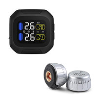 Wholesale WI Motorcycle TPMS Real time Tire Pressure Monitoring car Alarm with LCD display Max Bar PSI