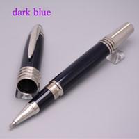 encre noire achat en gros de-Stylo à bille / stylo à bille / stylo bille / stylo bille en métal bleu foncé de haute qualité
