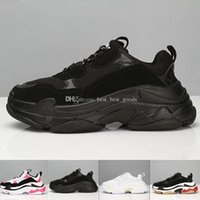 Wholesale sh fashion online - Fashion Paris FW Triple S shoes Sneaker Triple S Casual Luxury Dad Shoes for s Men Women Beige Black Sports Tennis Sh