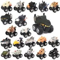 acabar com os animais venda por atacado-Modelo de carro de forma de cabeça de animais mini pull back veículo dos desenhos animados brinquedo animais em forma de animais de plástico up brinquedo do carro tta153