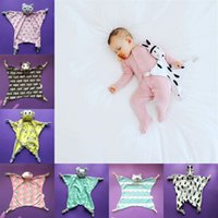 Wholesale baby shape toys online - INS Animal Shaped Appease Towel Soft Baby Saliva Towel Animals Shape Doll Soothing Towel Newborn Plush Toys
