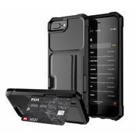rüstung s großhandel-5 farben magnetische fällen mit kartenhalter für auto iphone xs max xr x 6 s 7 8 plus rückenschutz handy abdeckungen softshell schutzhülle