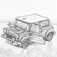 21002 technic series Cooper Model MK VII Building Kits Blocks Assemblage Bricks Compatible With 10242 DIY Children Boy Toys