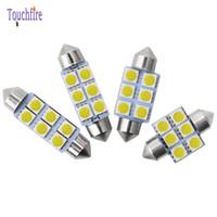 Wholesale car festoon bulb resale online - 100pcsLED bulb V Festoon mm mm mm mm C5W C10W Reading lamp Car Interior License Plate Light SMD White K