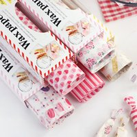бумага пищевая оптовых-50Pcs/Lot Wax Paper Food Grade Grease Paper Food Wrappers Wrapping For Bread Sandwich Burger Fries Oilpaper Baking Tools
