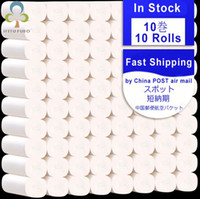 Wholesale 10 Rolls Fast Shopping Toilet Roll Paper Layers Home Bath Toilet Roll Paper Primary Wood Pulp Toilet Paper Tissue Roll