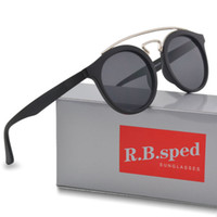 moda óculos de sol rodada venda por atacado-Top quality óculos de sol das mulheres dos homens da marca Designer de moda óculos de sol retro óculos redondos quadro uv400 goggle gafas de sol Com casos e caixa