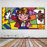 panel de lona al por mayor-Romero Britto, Canvas Pieces Home Decor HD Impreso Arte Moderno Pintura sobre Lienzo (Sin Marco / Enmarcado)