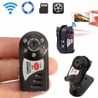 kızılötesi gece görüşü hd dvr toptan satış-Q7 Mini Wifi DVR Kablosuz IP Kamera Video Kaydedici Kamera Kızılötesi Gece Görüş Kamera Hareket Algılama Dahili Mikrofon DHL ücretsiz