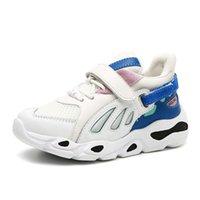 закрытый открытый кроссовки оптовых-Детские кроссовки осень новые дышащие сетчатые кроссовки, легкие противоскользящие мальчики и девочки