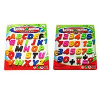 letras de imanes de nevera al por mayor-Números de OULII Imanes de nevera Alfabeto Imán de nevera Letras y juguetes magnéticos