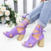 topuk parmak ayak bileği toptan satış-Litthing Kadınlar Ayak Bileği Çapraz Askı Sandalet Ayakkabı Pompalar Kadın Bayanlar Sivri Burun Yüksek Topuklu Elbise Parti Ayakkabı Zapatos Mujer