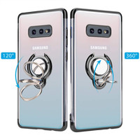 Wholesale phone case mount resale online - Slim Fit Ultra Thin Cover with Grip Ring Holder Stand and Magnetic Back for Car Mount Protective Phone Case for Samsung Series