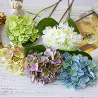 Wholesale flowers deco resale online - 3D Printing artificial Hydrangea flowers branch fake flores for wedding party diy decoration deco anniversaire wreath