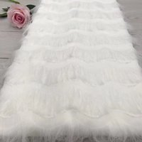 Wholesale embroidered nets for wedding dresses for sale - Group buy White color applique lace fabric d flowers african lace fabric embroidered tulle net lace french fabric for wedding dress