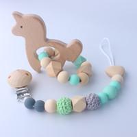 Kinder Holz Beißring Säugling Rassel Unisex Babys Kauen Spielzeuge 45mm