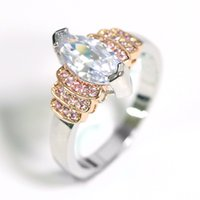 indische schmuckringe großhandel-Schöne romantik Hochzeit Ringe für Frauen Engagement Weiblichen Ring Rosa Indischen Schmuck Dekoration für Frauen Zubehör Schmuck