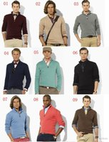 Wholesale best computer brands for sale - Group buy best selling new arrival cardigan v neck polo sweater men cotton casual coat fashion brand knitted sweater half zipper jumper