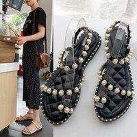 vadrouilles achat en gros de-Lucky2019 sandales perle joker loisir concise vadrouille froide avec orteils plage chaussures femme
