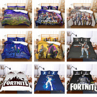 Wholesale king size single beds for sale - 3D Printed Game Fortnite Bedding Sets AU US UK size duvet Cover with pillowcase quilt covers Single Twin Full Queen Super King