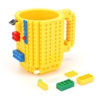 Wholesale brick mug resale online - 350ml Creative Milk Mug Coffee Cup Creative Build on Brick Mug Cups Drinking Water Holder Building Blocks Cup New Design