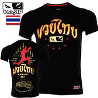 dövüş sanatları dövüşleri toptan satış-VSZAP Tiger Muay Thai Formalar Boks MMA Formalar Gym Tee Gömlek Mücadele Dövüş sanatları Fitness Eğitim Erkekler Homme